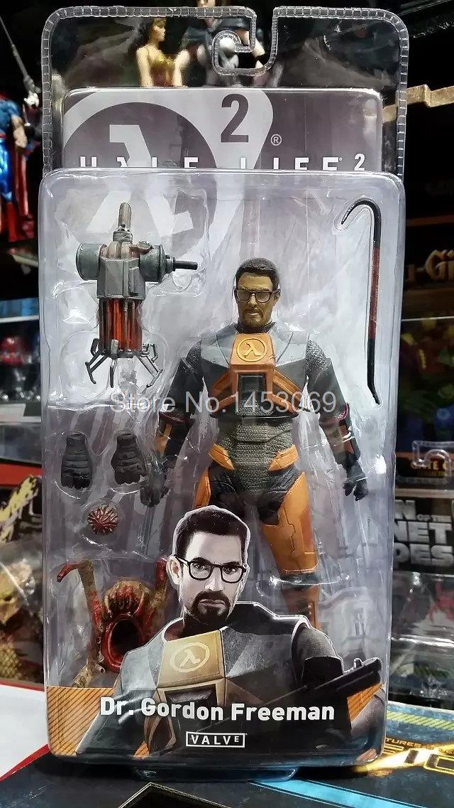 NECA Half Life 2 Dr. Gordon Freeman PVC Action Figure Collectible Model Toy Doll neca the texas chainsaw massacre 2 pvc action figure collectible model toy 8inch 20cm