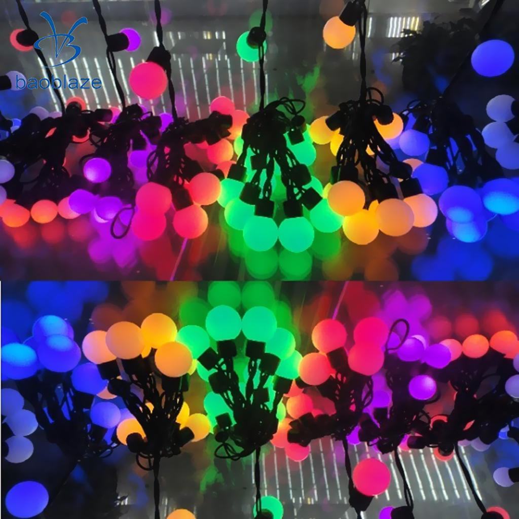 Baoblaze High Brightness E26 Fairy LED Light Bulb Party Patio Wedding Xmas G45 Garden Landscaping Lights Decor Lamp 3 Colors