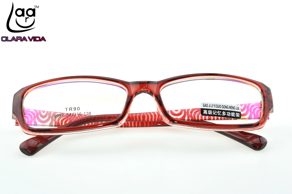 302f41e0361 TR90 Ultra Light Red Pattern Women Designer Glasses Frame Custom Made  Optical Prescription reading Glasses Photochromic +1 To +6-in Eyewear Frames  from ...