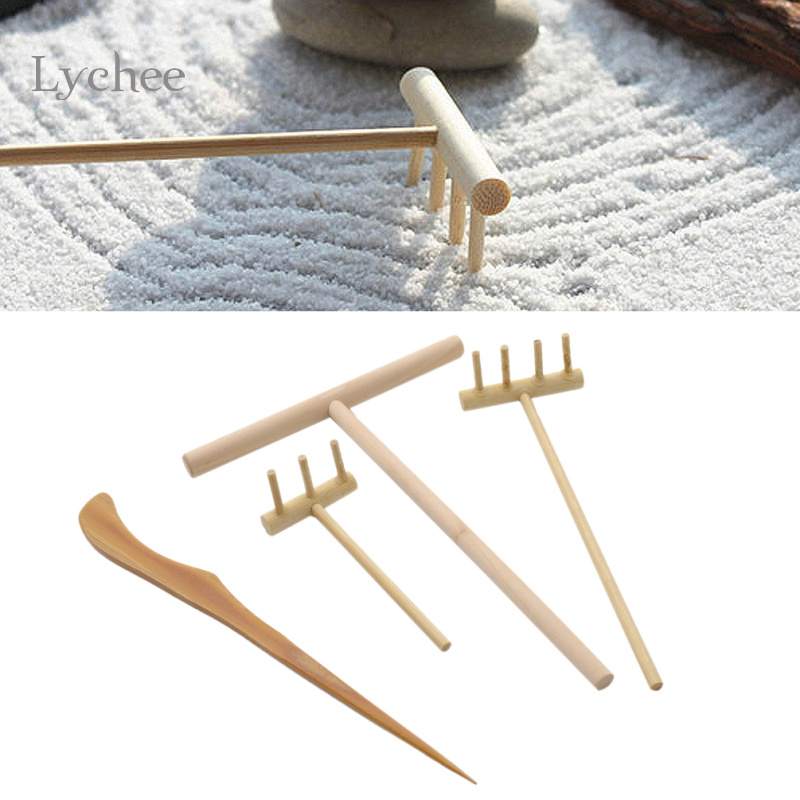 Lychee 1 Set Zen Garden Tool Bamboo Rake Fengshui Accessories Folk Art In  Figurines U0026 Miniatures From Home U0026 Garden On Aliexpress.com | Alibaba Group