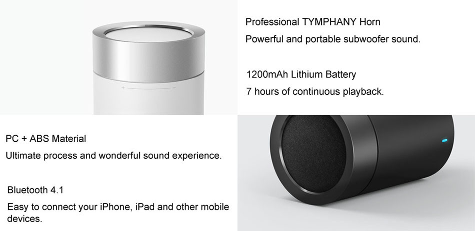 Original xiaomi speaker version 2 cannon TYMPHANY speaker 1200mah battery xiaomi bluetooth speaker 2ND 2