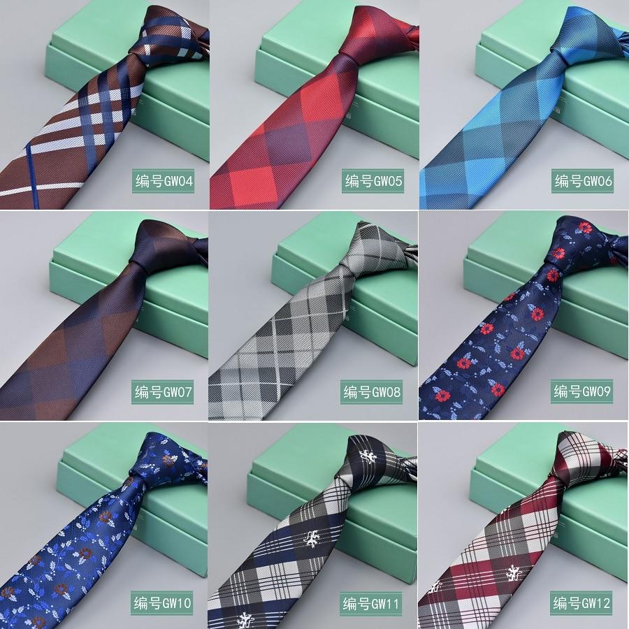 High Quality Man's Tie 6 Cm Skinny Ties Wedding Dress Neckties For Men Plaid Cravate Business Pour Homme Rouge Slim 2018