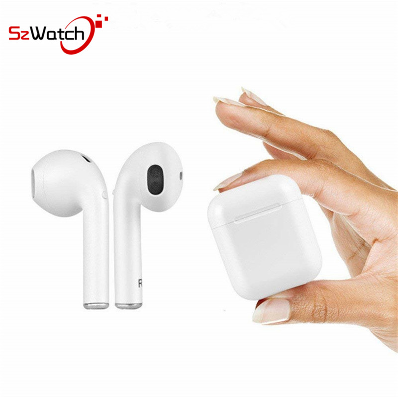 SzWatch I9 Tws Wireless Headset Bluetooth Earphone In-ear Hidden Earbuds Headset Stereo Sport Portable For IPhone7 8 android bgreen t02 tws bluetooth earphone true wireless stereo headset in ear earbuds