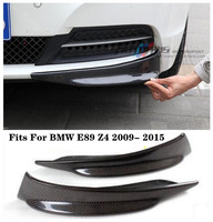 Carbon Fiber Front Lip Splitters Bumper Aprons Cup Flaps Spoiler Fits For BMW E89 Z4 2009 2010 2011 2012 2013 2014 2015 BY EMS