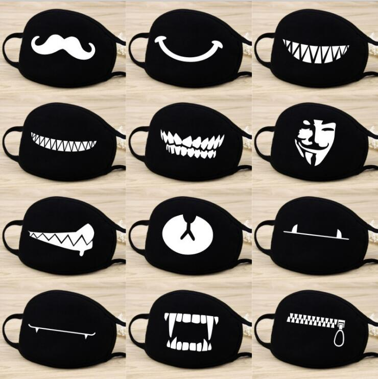 2019 New Face Mouth Mask Unisex 13 Style Camouflage Mouth-Muffle Unisex Respirator Stop Air Pollution Cartoon Lovely Cotton Mask
