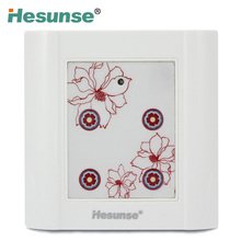 86HY-C4 Four Ways IR Remote Control Wall Switch Light Touching With Flower Pattern 86X86 suitable for 110v and 220V