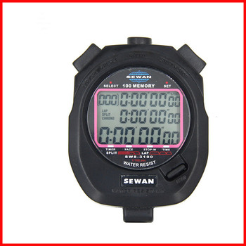 1//100 Second Centisecond Stopwatch Memory Chronograph LCD Digital Timer Counter