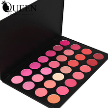 QUEEN Brand 28 Colors eyeshadow Blush Palette  Makeup Rouge in Bronzers and Highlighters Baeuty Make up Blush AB28