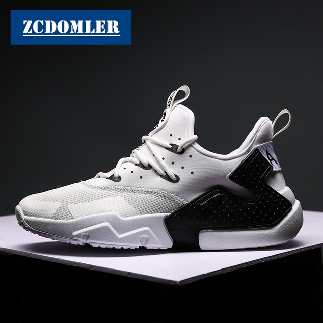 ZCDOMLER 2019 Top Quality Casual Shoes Men Breathable Zapatillas Hombre White Mens Sneakers Red Trainers Black Chaussure Homme