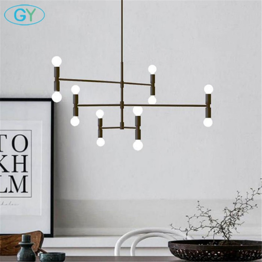 Modern gold or black chandelier lighting, industrial minimalist lustres, Home candelabro chandeliers for living room kitchenModern gold or black chandelier lighting, industrial minimalist lustres, Home candelabro chandeliers for living room kitchen