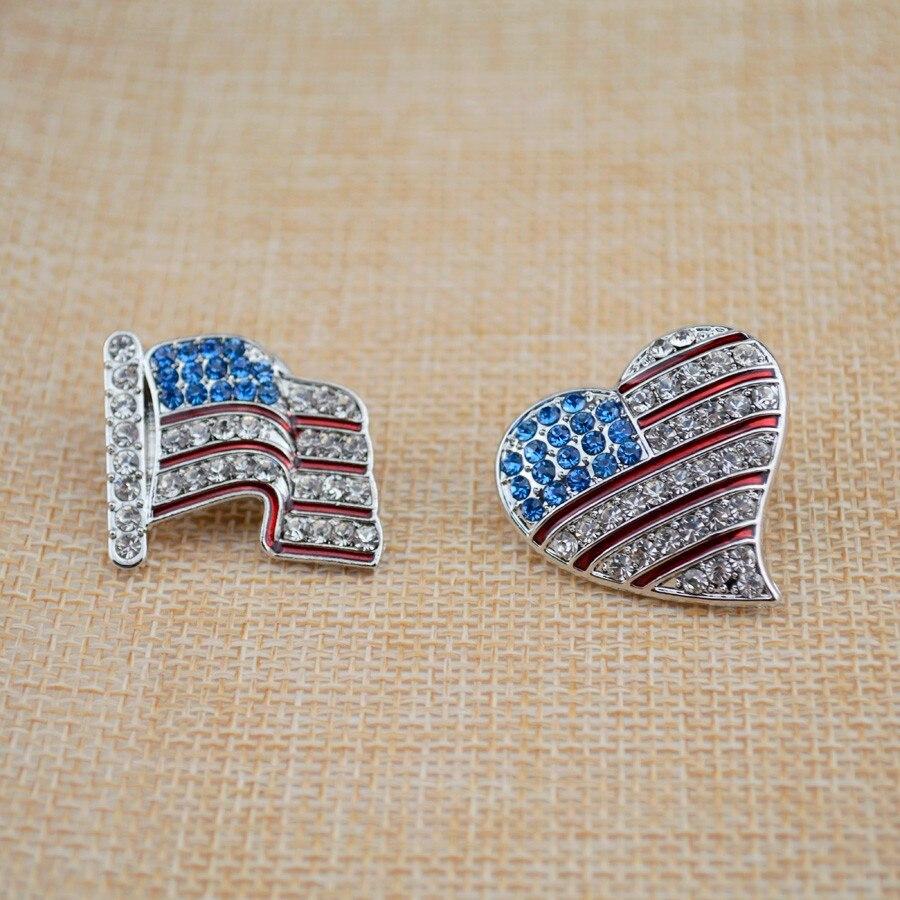 American flag sign broochs Fashion rhinestone Charm Costume Brooch ... 7a9a3c3cc61c