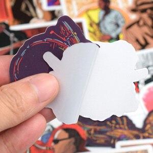 Image 5 - 50 pcs 비닐 노트북 스티커 macbook air pro retina/lenovo/hp 용 빈티지 록 음악 컴퓨터 스킨 냉장고 가방 스티커