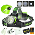 100% New Original BORUit Brand Healamp led Headlight Full set USB Cable + Manual +Cloth Bag+ 2x 18650 Battery +Connector