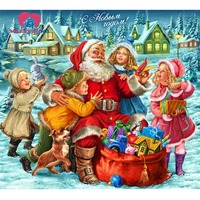 Christmas Santa Diamond Embroidery For Children Gifts Diamond Painting Full Square Cross Stitch Pictures Of Crystals
