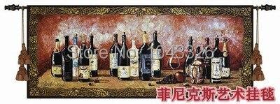 132*55 cm tapisseries à vin aubusson mural cadeau européen armoire à vin image décorative pour décoration intérieure tentures murales tapisserie