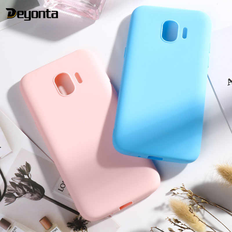 Candy Color Case for Samsung Galaxy J4 J3 <font><b>J7</b></font> J5 Prime 2016 2017 Cases Cover Shell For Samsung Galaxy <font><b>J7</b></font> Pro A7 2018 Plus Case image