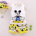 New Summer Mickey Baby Boys Clothing Set Vest and shorts pants Kids Boy suit Cartoon Sport Suit Vest childern clothes Set