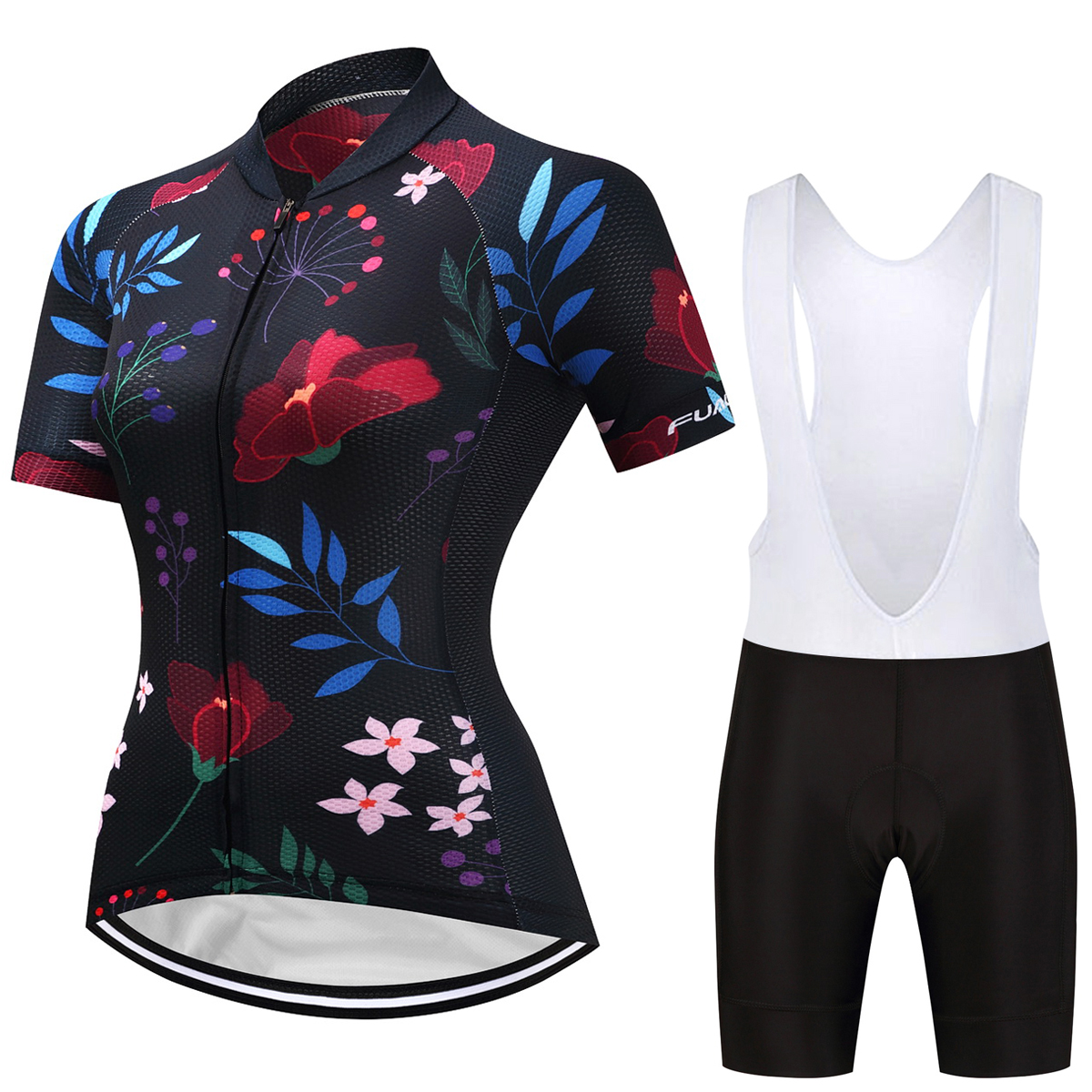 FUALRNY Kaitlyn Breathable MTB Bike Clothing Women Bicycle Clothes Ropa Ciclismo Cycling Wear 100% Polyester Cycling Jersey Set