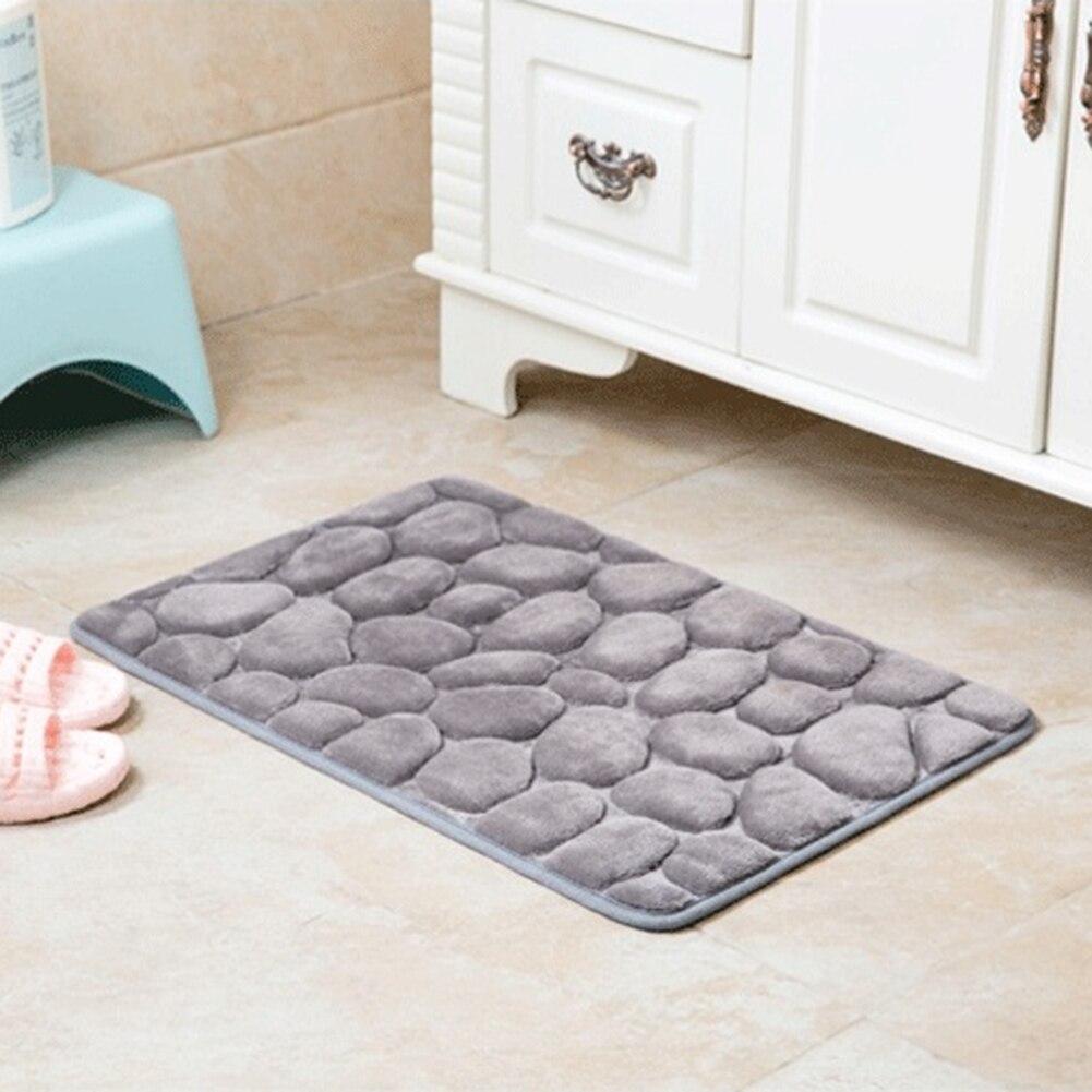 Non Slip Flannel Bath Mat Toilet Floor Mat Water Dust ...