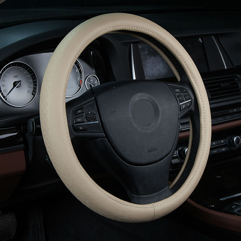 Car Steering Wheel Cover Genuine Leather Size 38cm For Chevrolet
