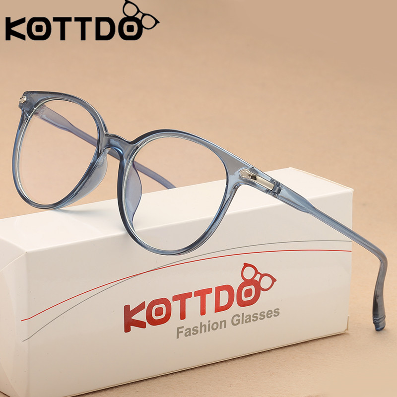 KOTTDO Vintage Glasses Eyeglasses Frame Women Designer Optical Frames Clear Lens Glasses Frame Men Accessories