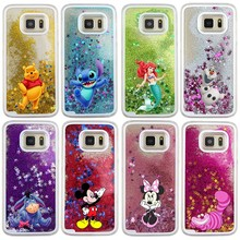 Kartun Disneys Cairan Air Mickey Minnie Mouse Case untuk Samsung Galaxy S9 S7  Edge S8 Plus Note 8 9 Putri Duyung quicksand Cover b6835a711f