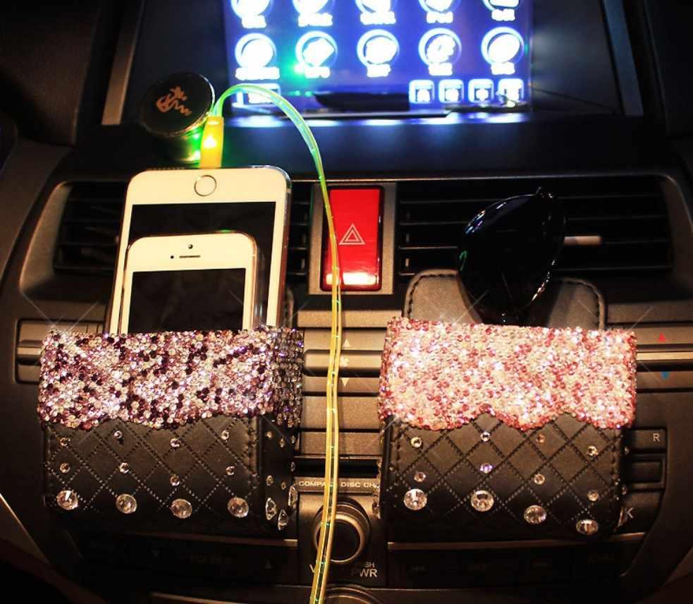 D'air De voiture support de prise téléphone Carte de Monnaie Sac De Rangement Boîte de Rangement Rangement Pour BMW MINI COOPER Audi Benz Skoda Octavia A5 KIA Hyundai