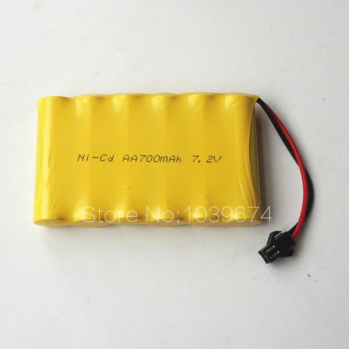 Free DHL for 7.2V Rechargeable Batteries 6V 700MAH AA Ni-CD Battery Packs Cells