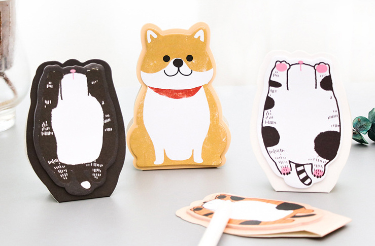 Cute cat dog Self-Adhesive Memo Pad Sticky Notes Post It Bookmark School Office Supply papelaria