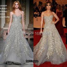 Erstaunlich A-linie Abendkleider 2016 ZAHY Sweet Weg Von der Schulter Sleeveless Open Back Bling Appliques Celebrity Dress WL104