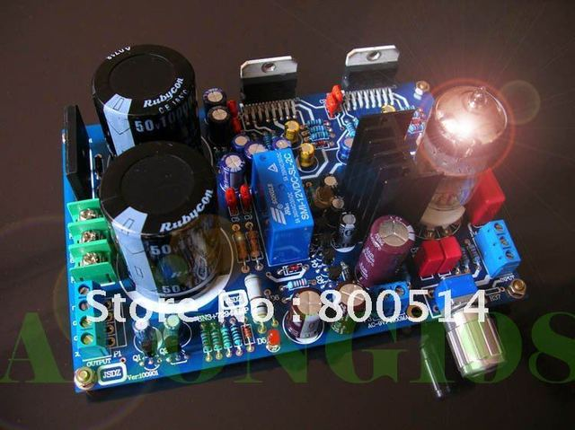 Tube 6N3 Preamp TDA7294 Power Amplifier Kit DIY 80W+80W