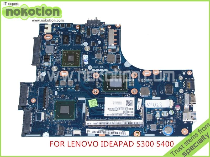 NOKOTION VIUS3 VIUS4 LA-8951P REV 1.0 For lenovo ideapad S300 S400 Laptop motherboard AIT graphics I3-2365M free shipping new vius3 vius4 la 8951p rev 1 0 main board for lenovo ideapad s300 laptop motherboard with sr0fl 857 cpu