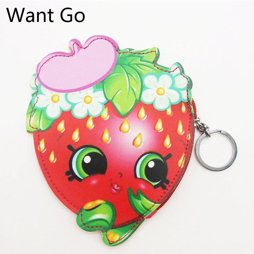 Want Go Fashion Girls Cartoon Coin Purse Cute Friut Child Coin Pouch Small Leather Bag Lady Mini Purse Wallet Zipper Key Bags