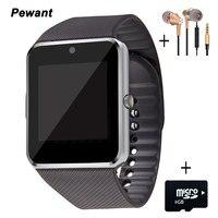 2017 ללבוש שעון Pewant המכשירים ביש GT08 שעון חכם אנדרואיד Smartwatch עם מצלמה חכם ה-SIM בריאות PK DZ09 A1 T6 GT 08