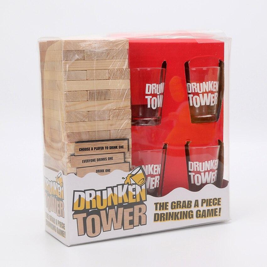 Hot Sale Drunken Tower Jenga games Drinking Games Bingo Christmas ...