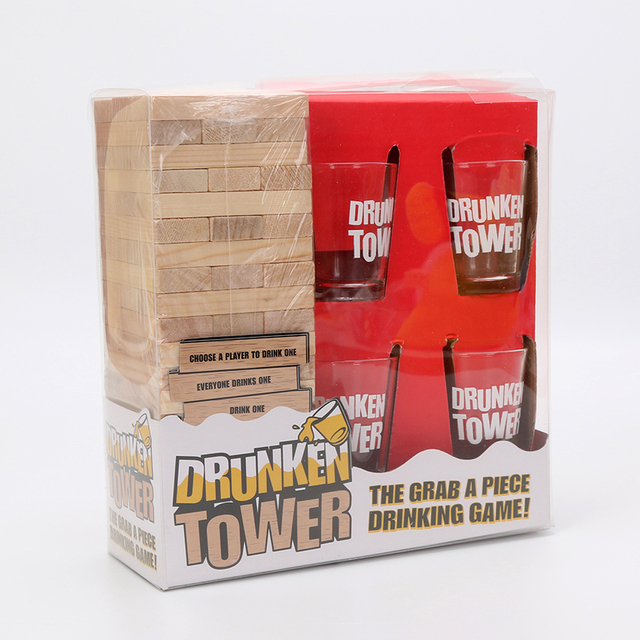 Drunken Tower Jenga games Drinking Games Bingo Christmas Gift Night ...