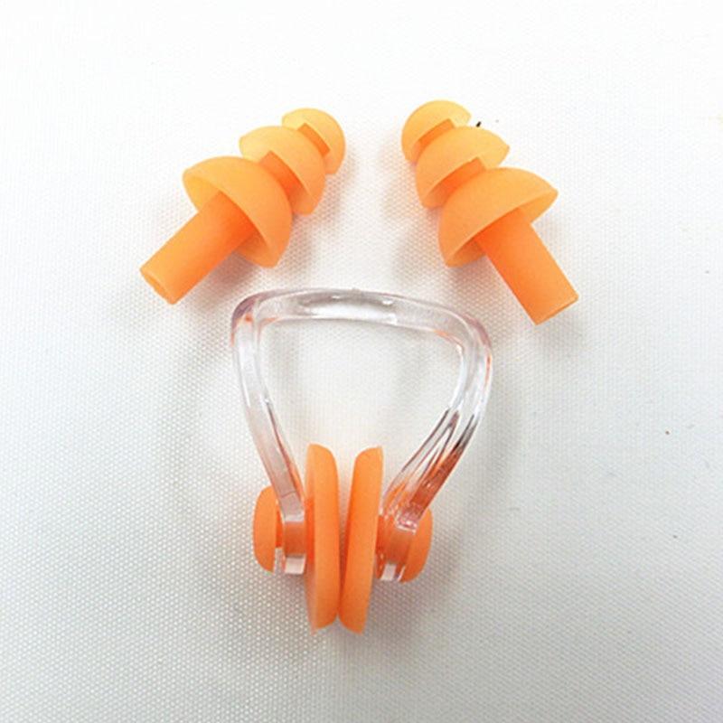 1 компл.. водостойкий мягкий силиконовый Плавательный набор зажим для носа ушной штекер ушной наушник инструмент