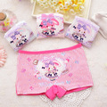 4pcs/pack Girls Cotton Middle-waisted Underwear Cute Bunny Cartoon Underpants Children's boxer briefs Girls Panties Short Boxer