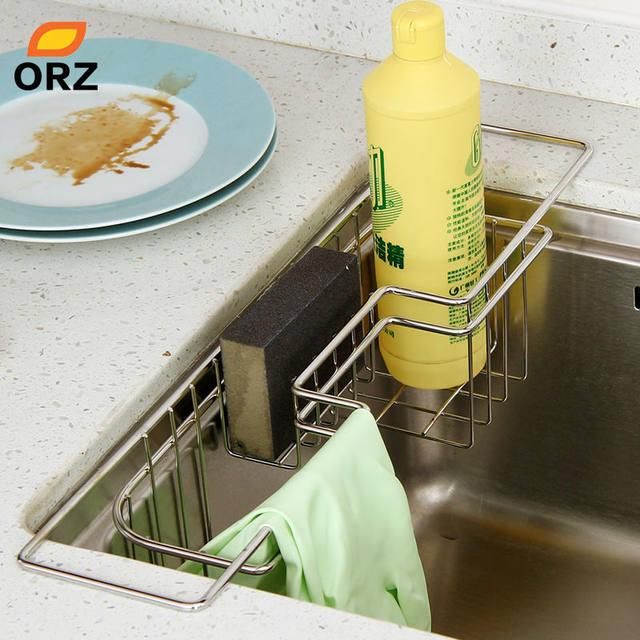Schwammhalter Küche | Online Shop Orz Edelstahl Kuche Fach Abtropfgestell Waschestander