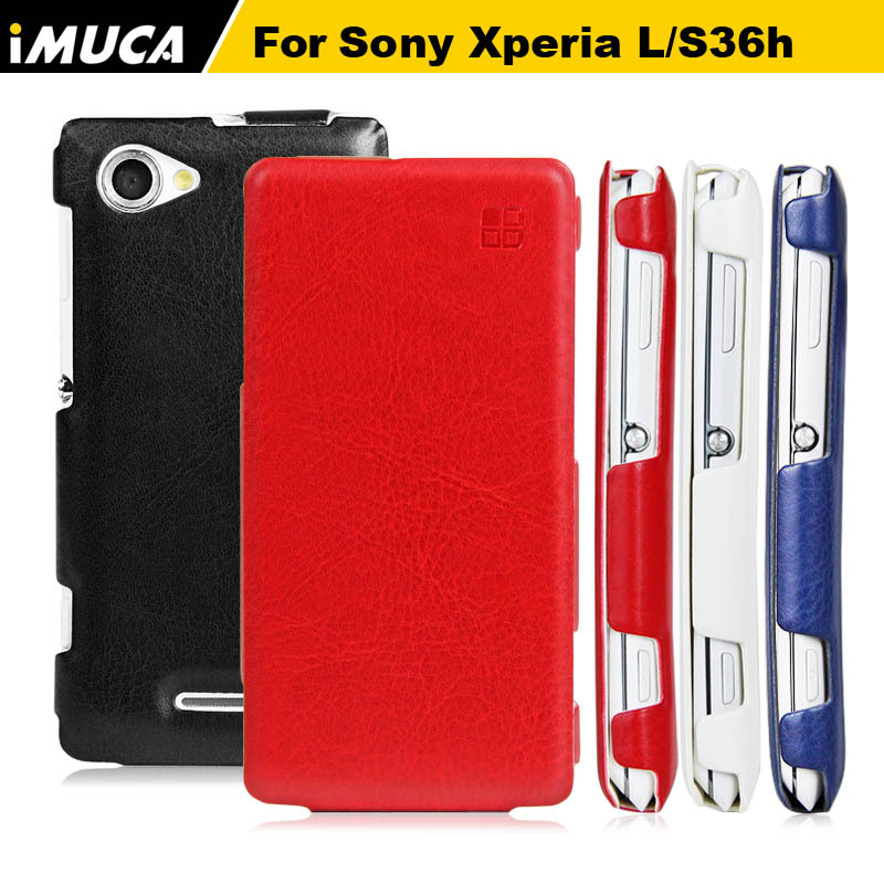 super popular 8aa38 4d1e2 US $10.47 |IMUCA for sony xperia l c2104 cases luxury Leather Case for Sony  Xperia L C2105 S36h Vertical Flip Cover Phone cases on Aliexpress.com | ...