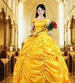FREE SHIPPING Beauty and the Beast Belle princess cosplay costume fairy tale fancy dress with gloves underskirt