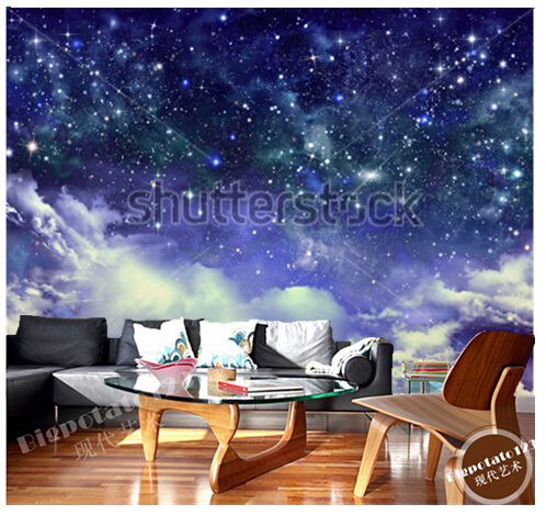 Custom wallpaper for room, large murals starry sky is used in the bedroom of children room ceiling wall vinyl paper DE parede custom 3d ceiling wallpaper beautiful sky maple murals for the living room bedroom ceiling wall waterproof wallpaper