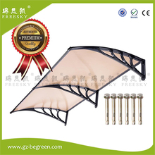 YP100240-A 100x120cm 100x240cm 100x360cm aluminum window awning door canopy polycarbonate clear cover sun shade rain shelter