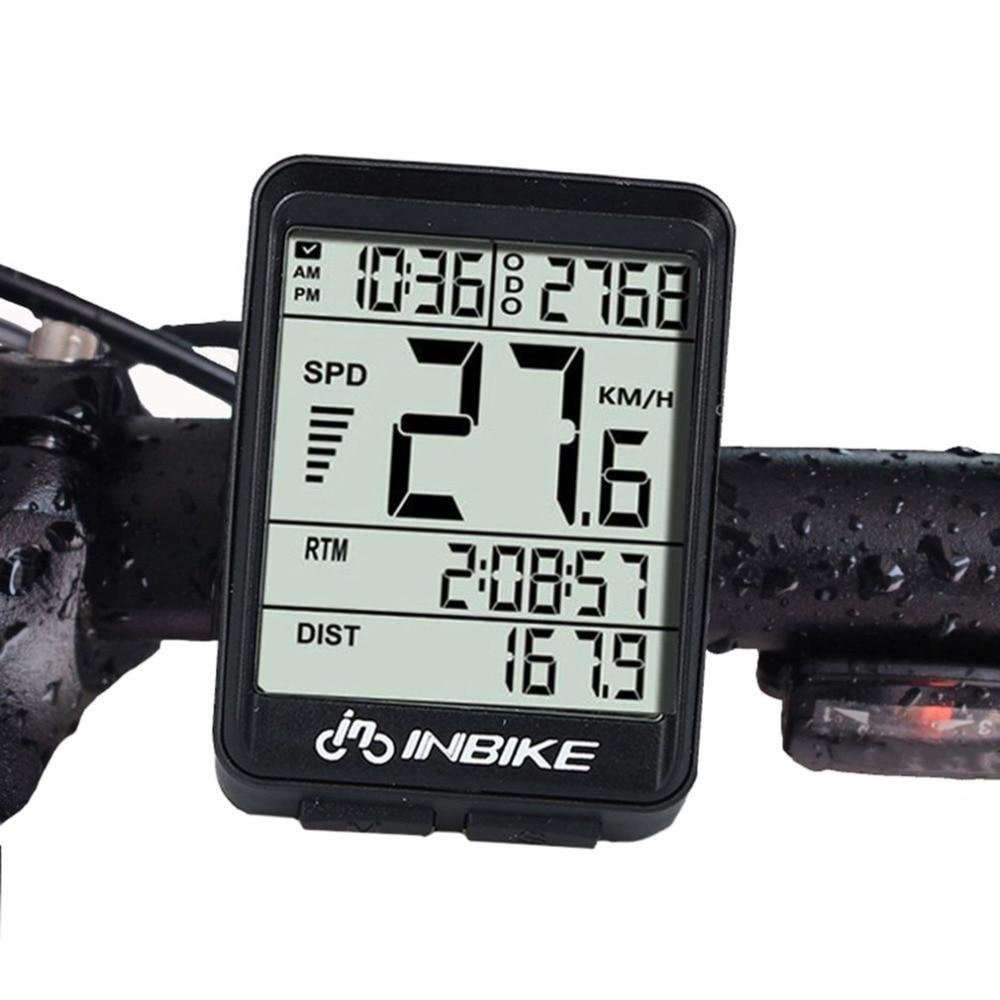 9bef90824 Cable/luz trasera inalámbrica LCD pantalla bicicleta ordenador impermeable  velocímetro odómetro ciclismo bicicleta medible cronómetro tacómetro