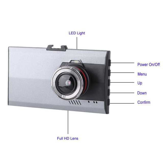 3 Inch LCD Full HD 1080P Night Vision Car DVR 170 Degree Viewing Angle Motion Detection & G-Sensor Video Cam Dash Cameras 2