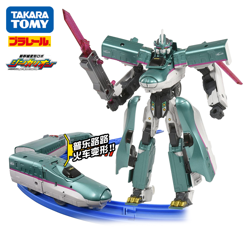 Takara Tomy Plarail Shinkansen Shinkarion E5 Hayabusa Deformation Robot DXS01 Toy Train New