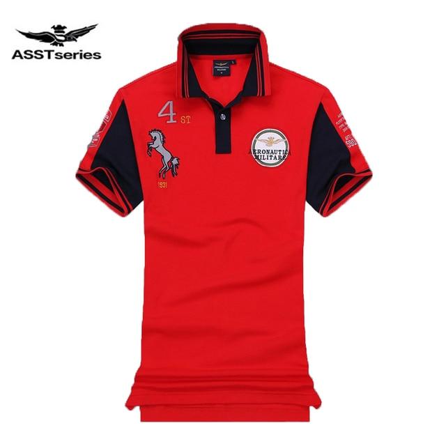 a60360759 Famous Italy Brand clothing fashion polo homme aeronautica militare men  polo shirts embroidery horse logo air force one polos Z