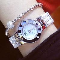 New Arrival Women Bracelet Watches Dress Watch Pearl Strap Rhinestone Quartz Wristwatch Girl Best Gift Reloj
