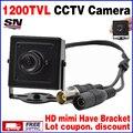 Big Sale! Metal Mini Hd Real 1/3 cmos 800/1200TVL Vigilância Cor Cctv hd micro Câmera de Segurança Home INdoor vídeo Tem Suporte