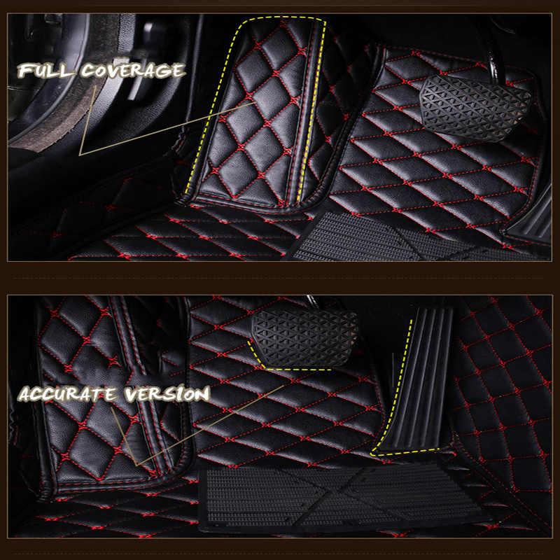 車のフロアマットアウディ A6L R8 Q3 Q5 Q7 S4 S5 S8 RS TT クワトロ A1 A2 A3 A4 a5 A6 A7 A8 車のアクセサリー自動車スティックカスタム足